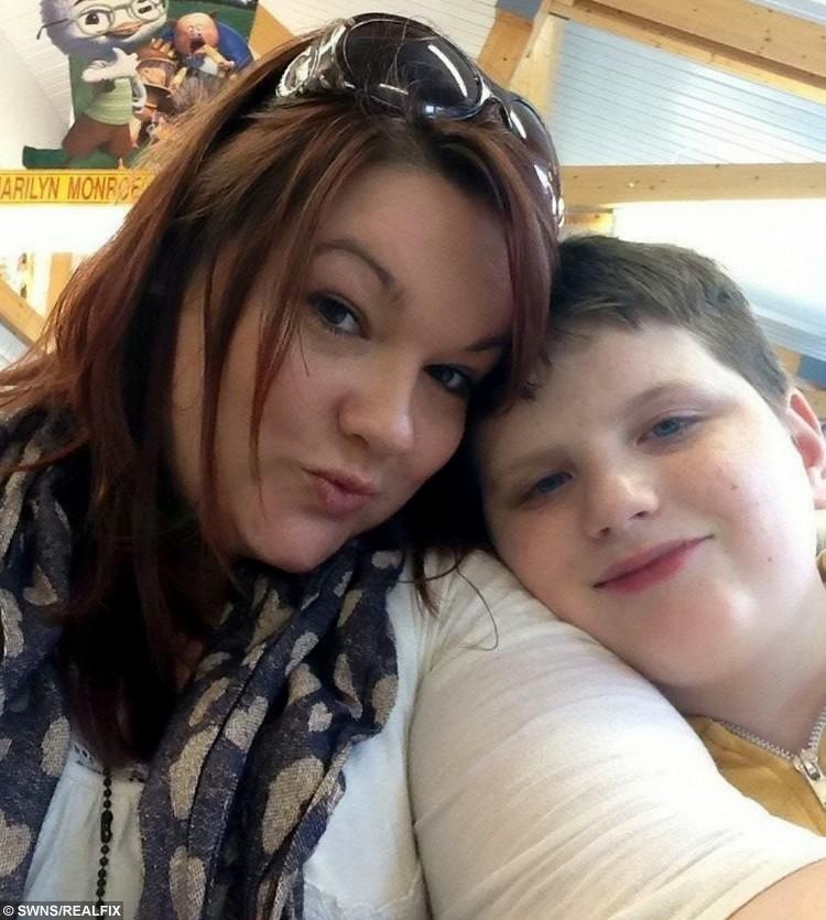 Eddie Marshall, 16 and mum Adele Hanlon, 34
