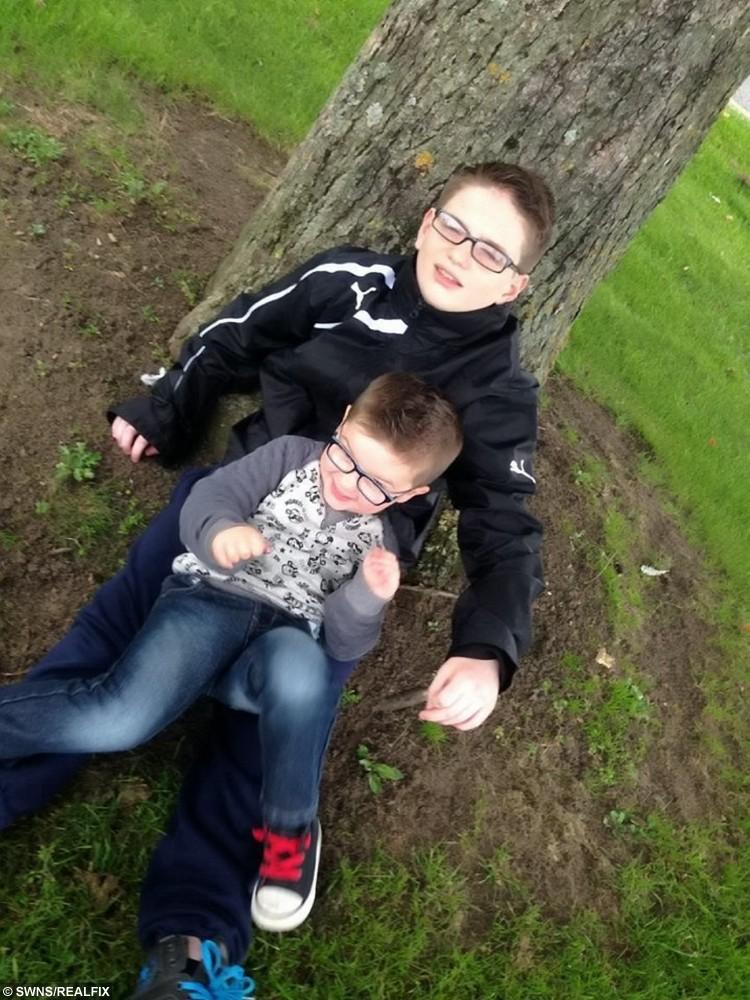 Eddie Marshall, 16 and his little brother Alfie Hanlon-Green