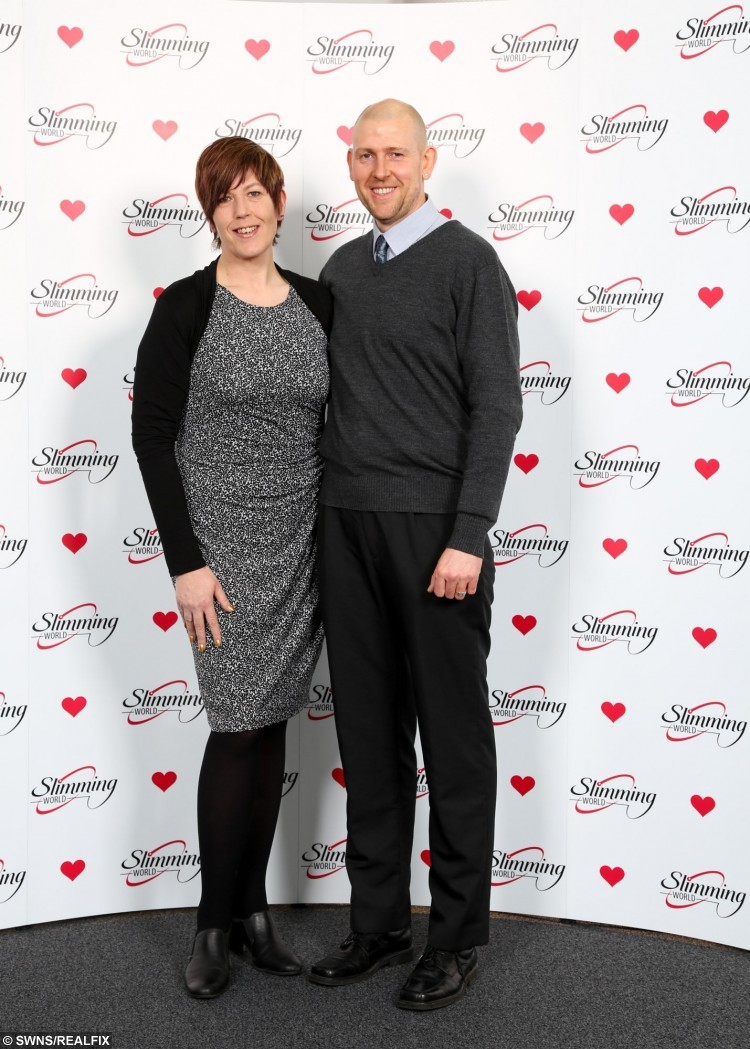 The worthy winners at the Slimming World Couple of the Year event.