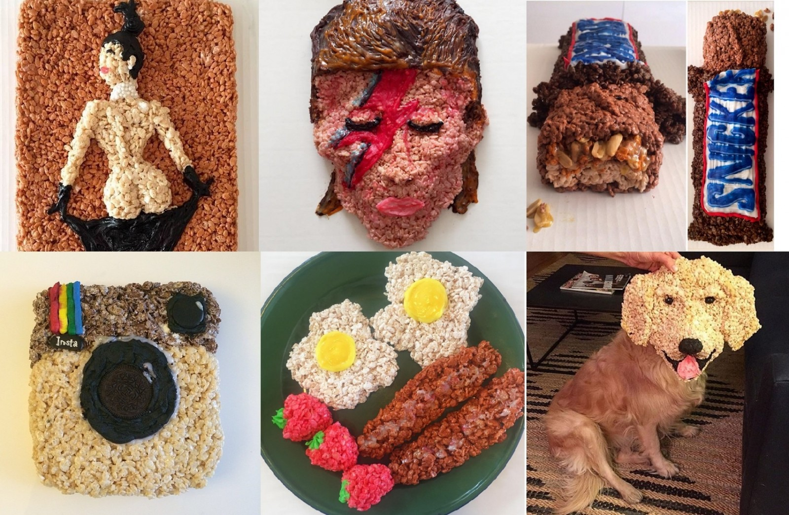 Snap, crackle, and pop… art – woman creates amazing edible designs out of Rice Krispies