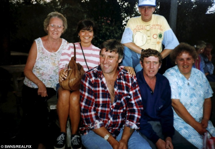 Brian Herrick pictured with family