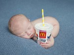 Nappy Meal – mum sets up fast-food themed photo shoot for baby born in a Drive-thu