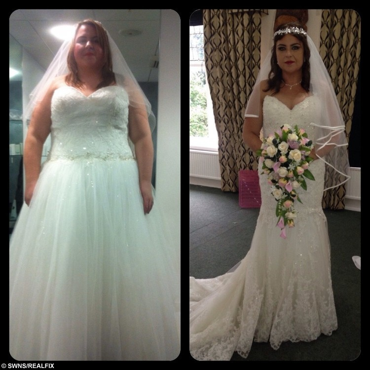 obese bride bought new dress just three weeks before her