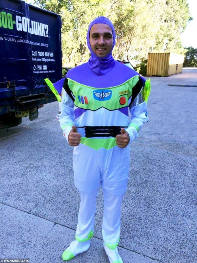 Barmy Sam Stephens who changed his name to Buzz Lightyear