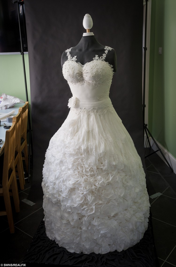 Have your cake and wear it award winning baker makes for Have wedding dress made