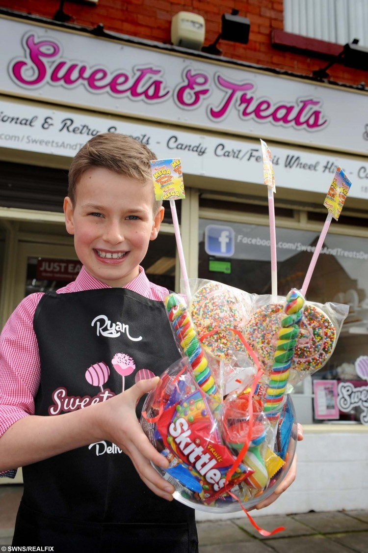 Ryan Dobson's dream job of working in a sweet shop comes true, thanks to Sweets & Treats, Harton Village. A child's cheeky letter to his local sweet shop asking for a job as its official taster has gone viral around the world. See Ross Parry story RPYSWEETS. Entrepreneurial Ryan Dobson, nine, applied to Sweets and Treats in Harton Village, South Shields. He wrote in asking for a position after his mum Lea Dobson informed him and big sister Chloe, 13, that school holiday activities cost money. The letter has now been seen 22,000 across the globe after the sweet shop shared it on its Facebook account. Ryan took pen to paper in a bid to explain why he would be the perfect employee and even suggested that he'd drum up business by standing outside with free samples to lure customers in.