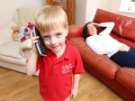 Quick-thinking toddler saves his diabetic mum's life