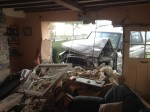 A drink driver has been banned after he crashed his car into a stone cottage and demolished a couple's front room