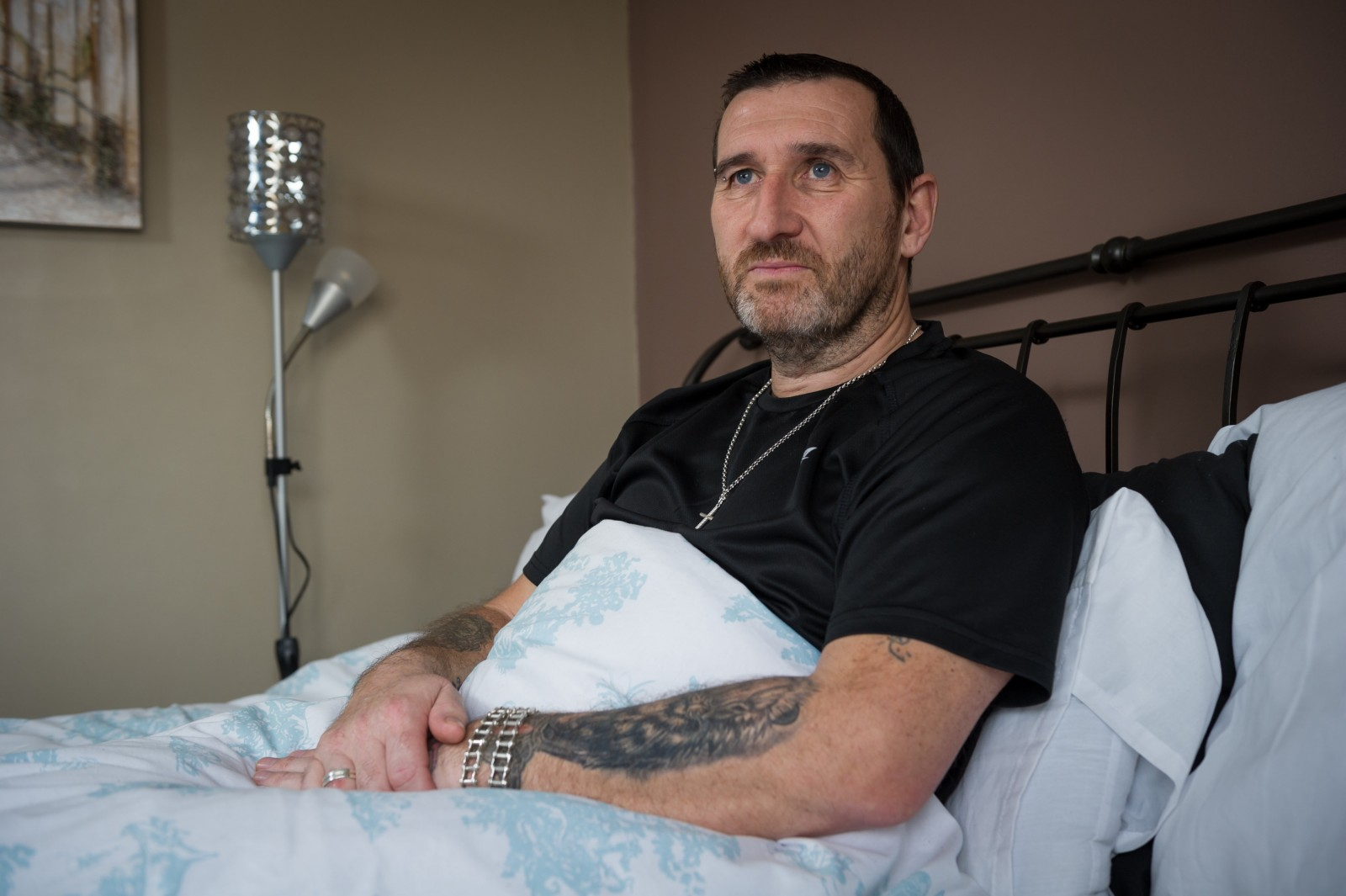 A healthy dad who hasn't been sick in 35 YEARS, is now bed-bound and paralysed from the neck down due to a mystery illness