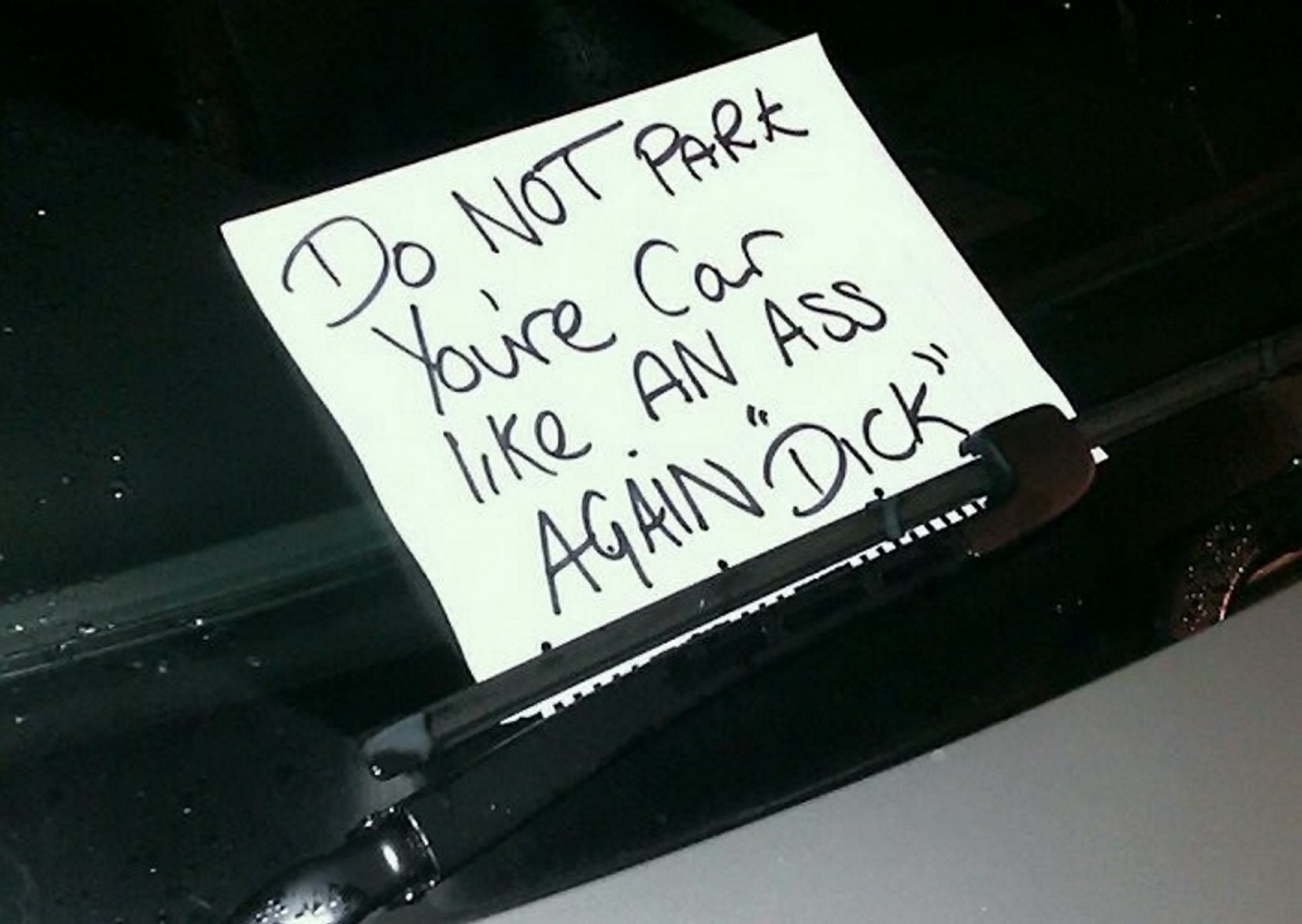 But sometimes only a passive aggressive note will do