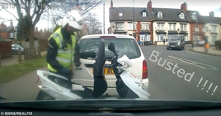 Harvey Saunders, 41, had his car slapped with a parking fine after a warden moved no-parking cones to incriminate him.