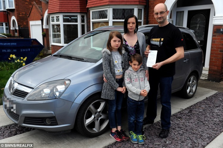 Harvey and his family with the parking ticket, they are pleased an investigation is under way.