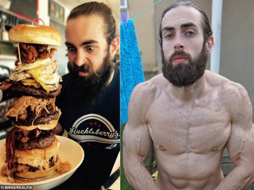 I can't believe he got ripped like this eating 10,000 calories in one  sitting! | real fix