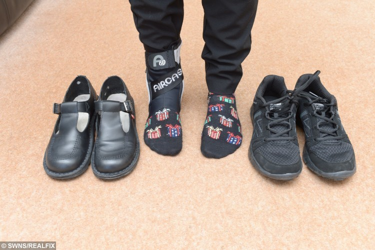 Sophie Bailey's school shoe row - Trainers v Shoes .
