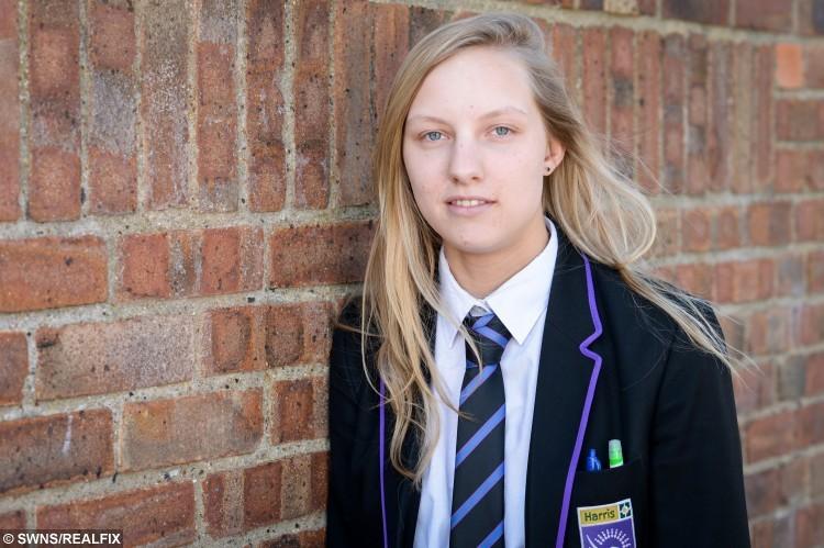 Sophie Bailey in her school uniform.