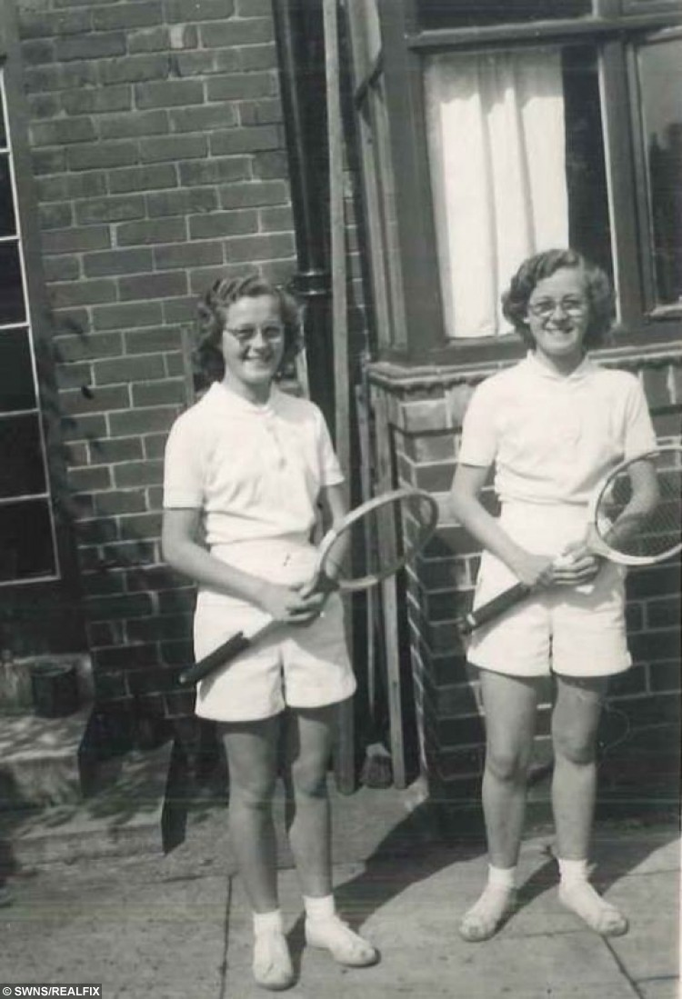 """Twins Donie Donnelly and Barbara Mason who have dedicated six-and-a-half decades of their lives playing tennis are determined to carry on - as they celebrate their 80TH birthday. Tennis twins Barbara (right) and Donie aged 17 in 1953. See Ross Parry copy RPYTENNIS : Sprightly sisters Donie Donnelly and Barbara Mason admit they're not as fast as they once were but that doesn't stop them playing every week with women of a similar age.  And the birthday girls don't have any plans to hang up their rackets yet and instead have declared they're aiming for 90 next. Barbara, who is 35 minutes older than her sister Donie, admitted they have both had spells of being out of the game. Barbara said: """"We don't ever consider not playing but we've both had little breaks."""
