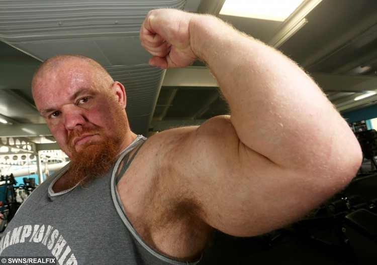 He thanks 10,000 calories a DAY for his bulging biceps