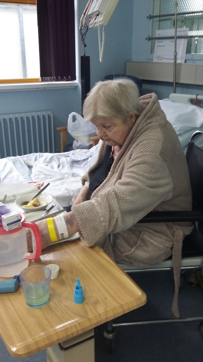 Daughter slams hospital after she finds her 77-year-old mum eating her dinner on a dirty COMMODE.
