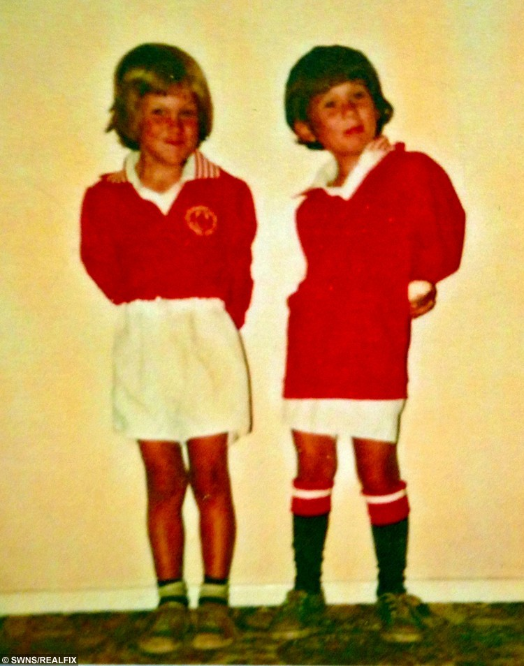 Gillian Ravenscroft's  sons Leon and Gary pictured as children when they were mad keen on football.