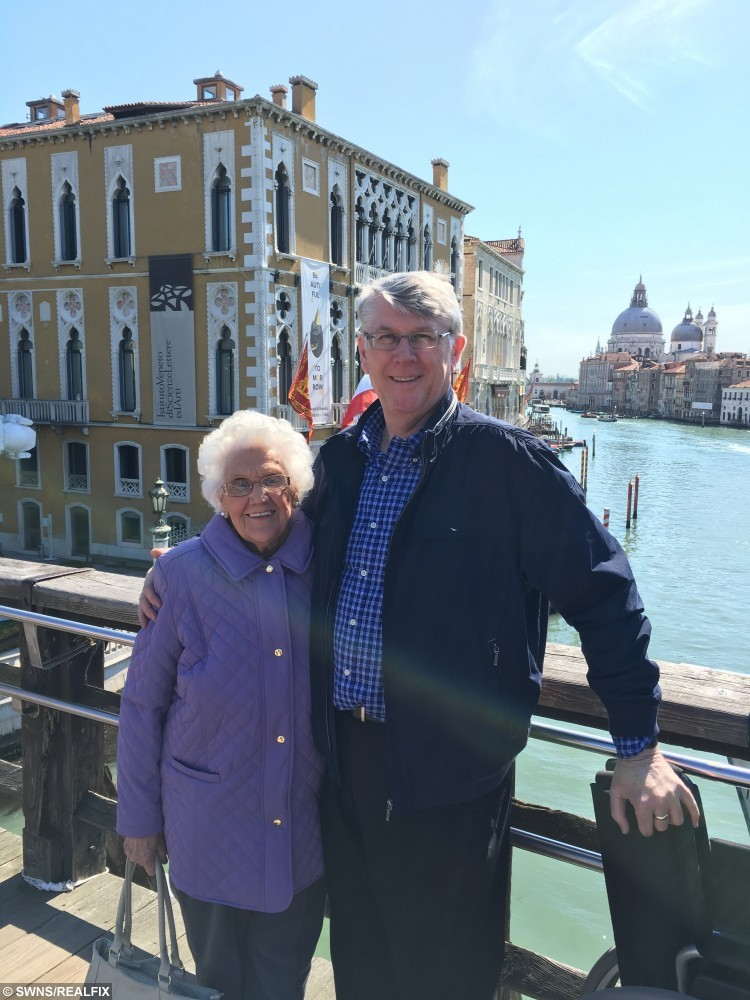 85 year old Olive Jones who has overcome her fear of flying to take a trip to Italy.