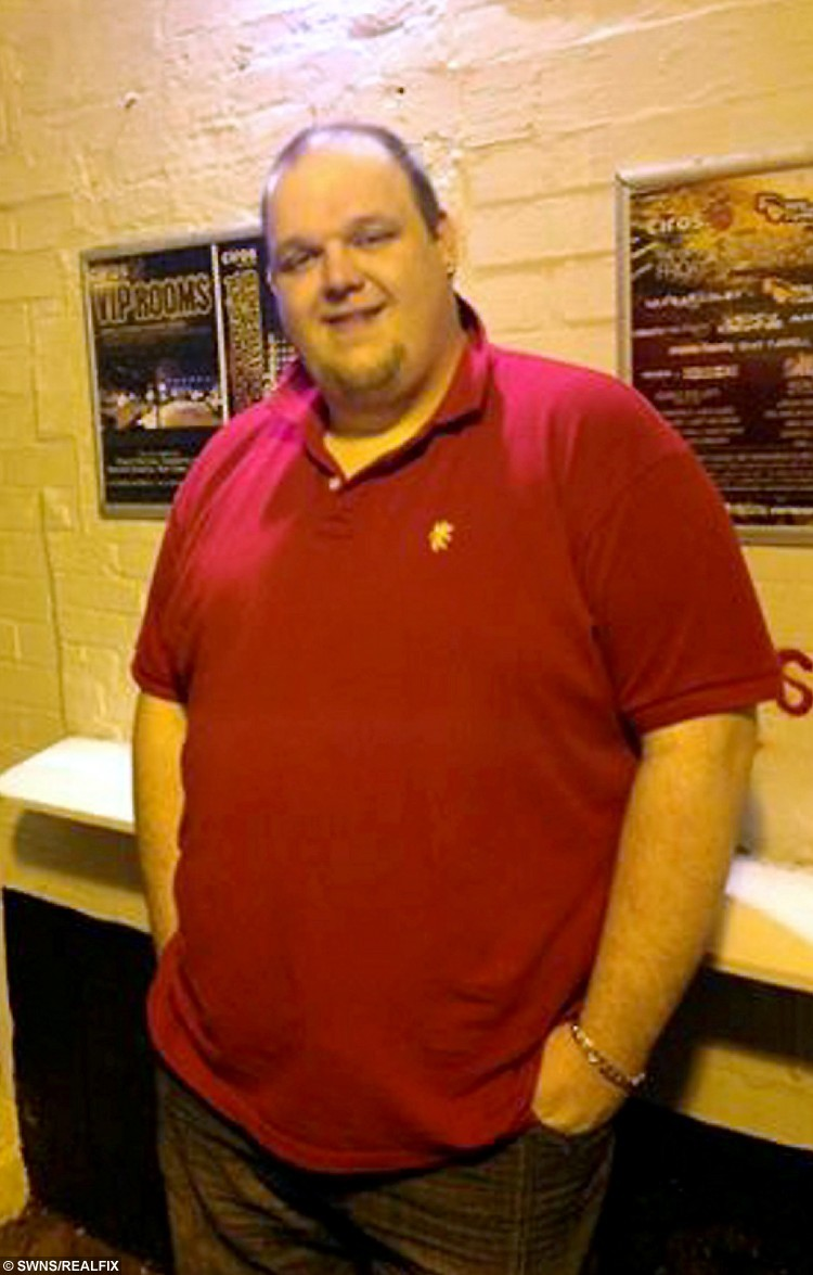 Jason Storer pictured before he lost 15 stone