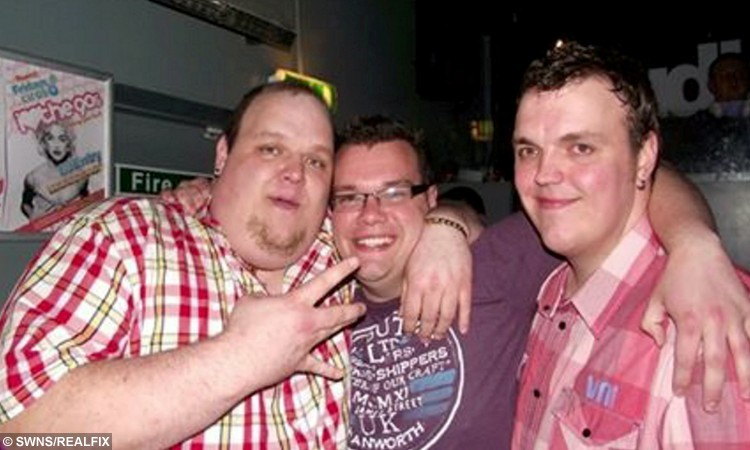 Jason Storer (left) pictured before he lost 15 stone