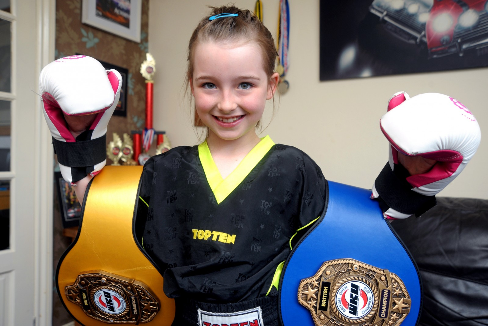 Eight year old girl who took up kickboxing to beat bullies now British champ
