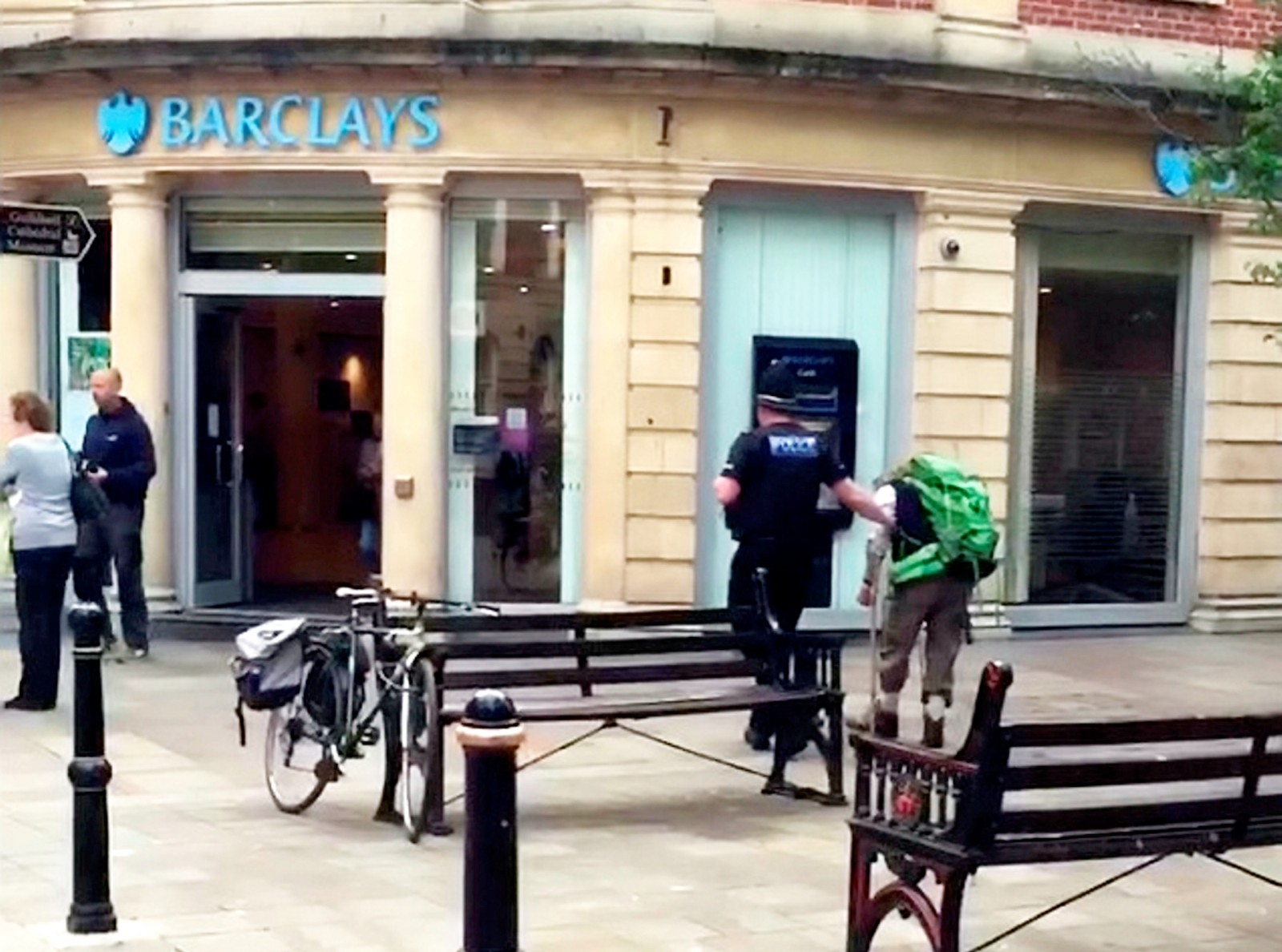Is this Britain's kindest cop? Meet the bobby who guided blind man through busy city centre