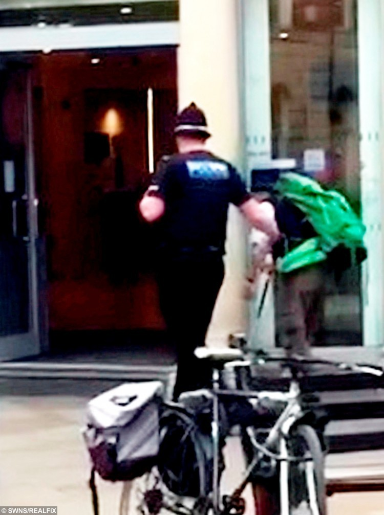 Kind-hearted cop Matt caught on camera helping a blind man in Worcester city centre