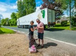 Man delivers a truck load of love for lorry marriage proposal