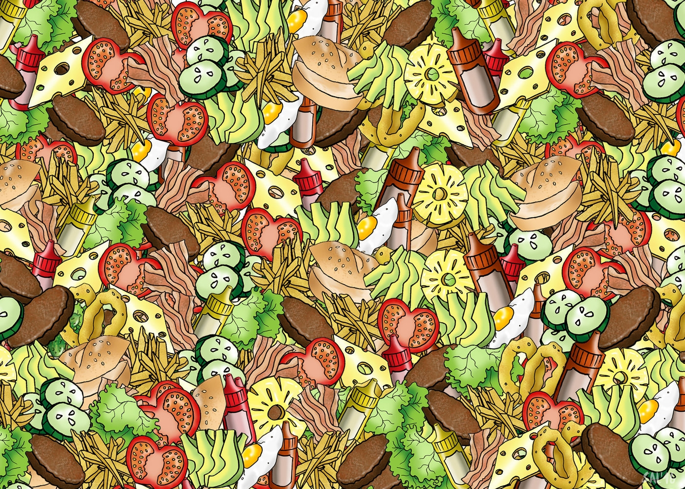 Can you spot the gherkin in this picture puzzle?