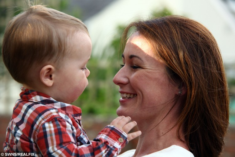Sarah and baby Leo