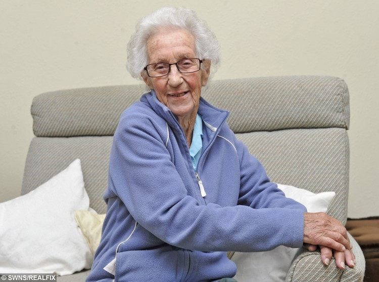 Kay Pinfold is still a keen charity volunteer at the grand age of 97.