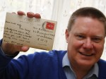 A history fanatic was gobsmacked when he bought a postcard which had been sent in 1938 – by his MUM.