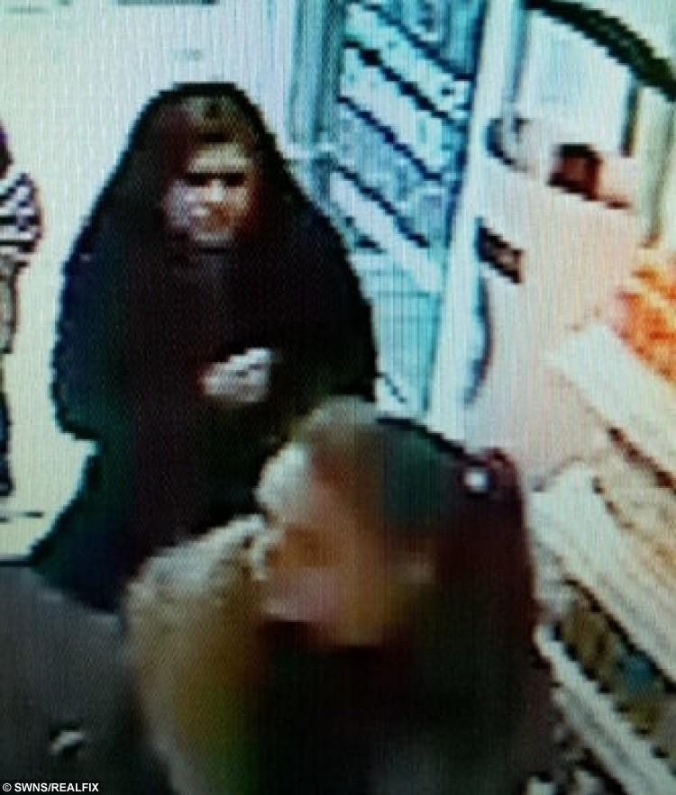 Francesca seen on CCTV (Bottom).
