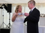 Whole latte love! Besotted couple fell in love over coffee – and had a COSTA themed wedding.