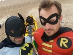 Friends dressed as Batman and Robin in real life rescue mission after kite surfer gets into trouble