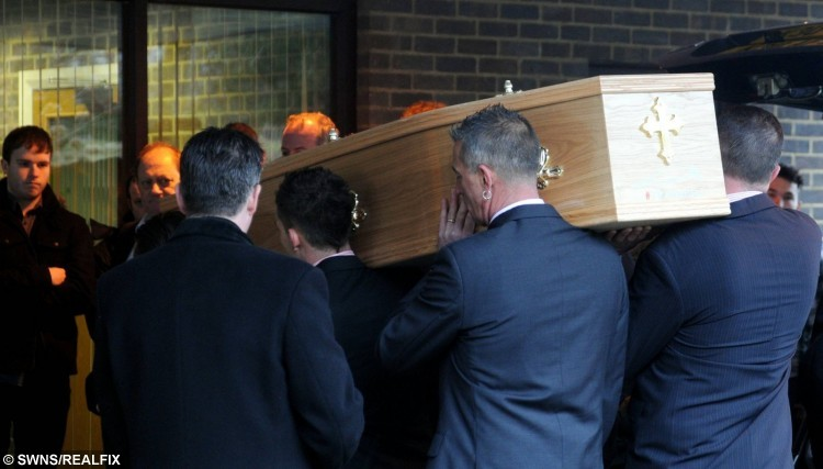 Dale Pentney's funeral.
