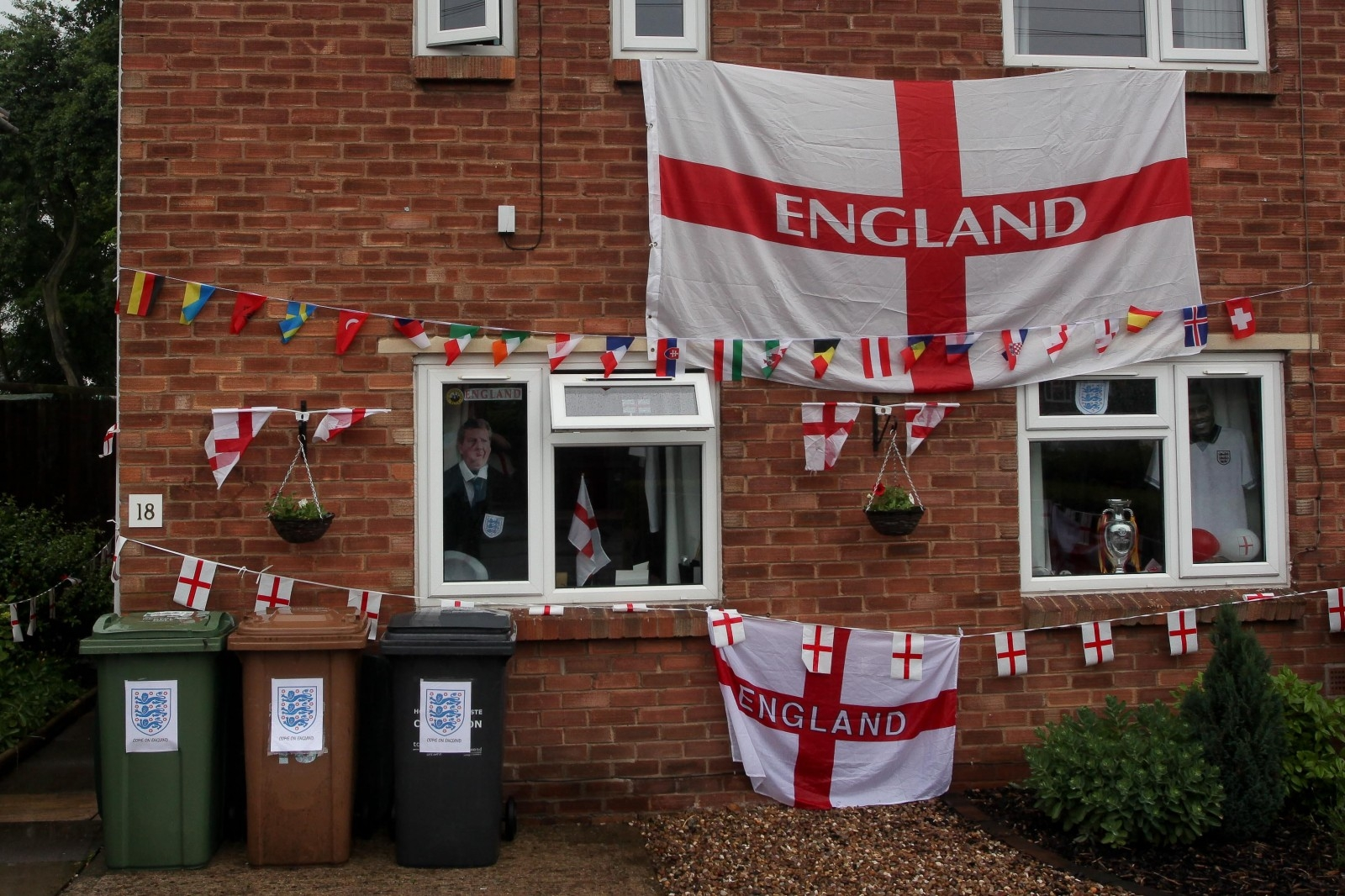 Even the outside of the house has been decorated for the tournament