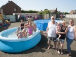 "Mum slams ""killjoy"" housing association for forcing her to remove paddling pool and trampoline from communal garden over health and safety fears"