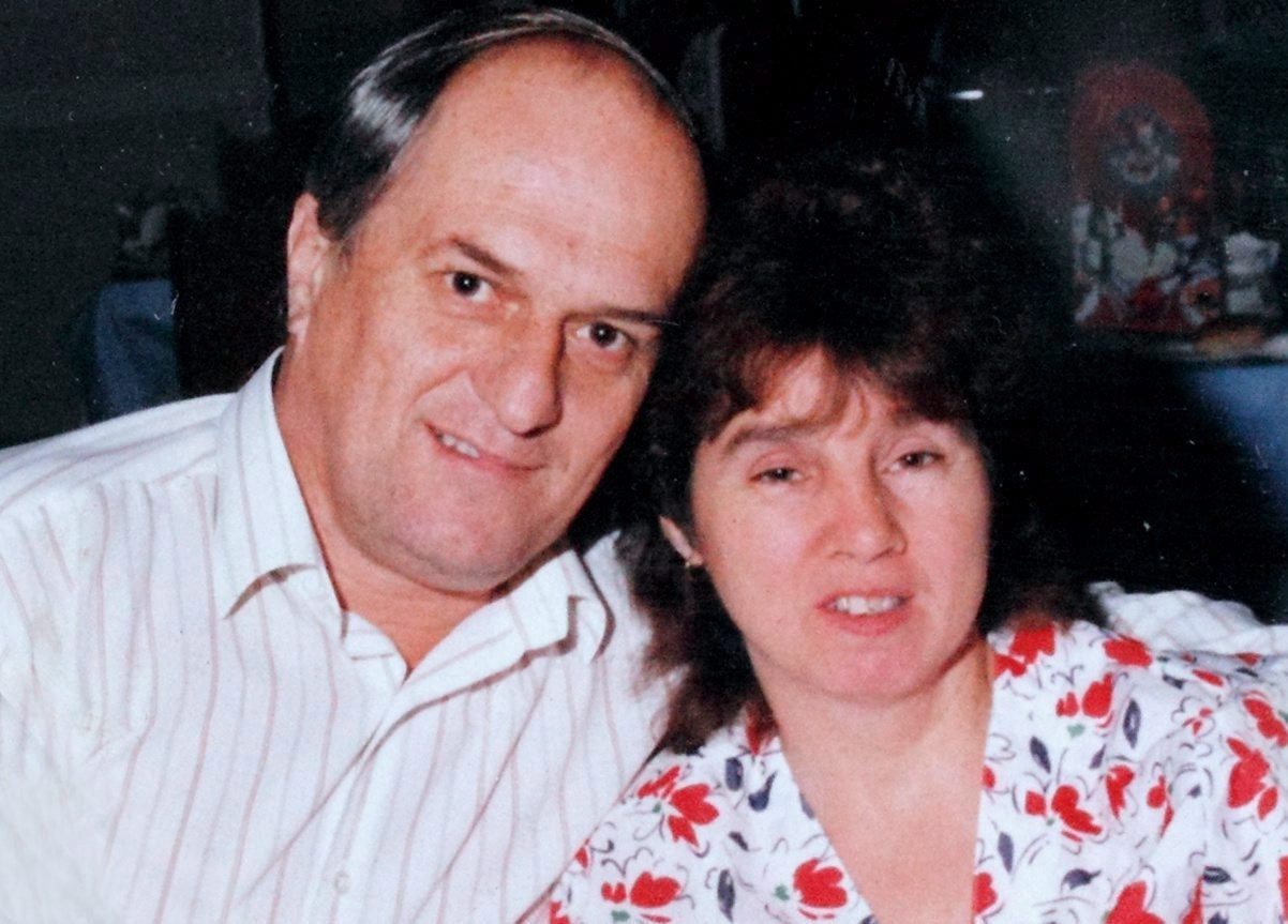 Peter  his late wife Rosemary who suffered with MS