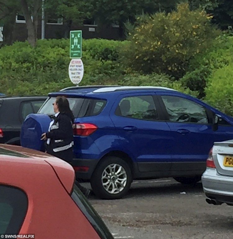Parking warden ticketing chemotherapy patients at the William Harvey Hospital