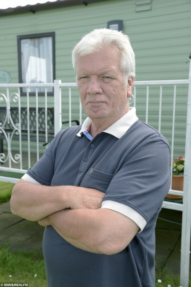 Peter Francis, 66, hasn't eaten meat or fish since the unpleasant incident.
