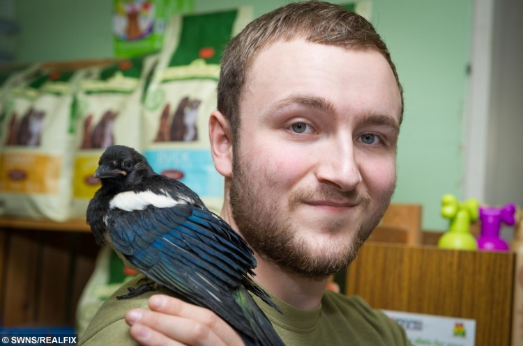 Peter and his unusual  adopted pet, Pica