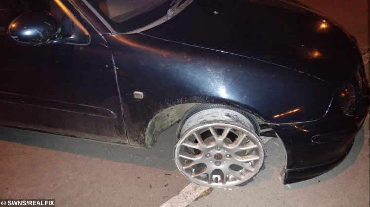 The car which PC Steve 'Oscar' Hutton was chasing