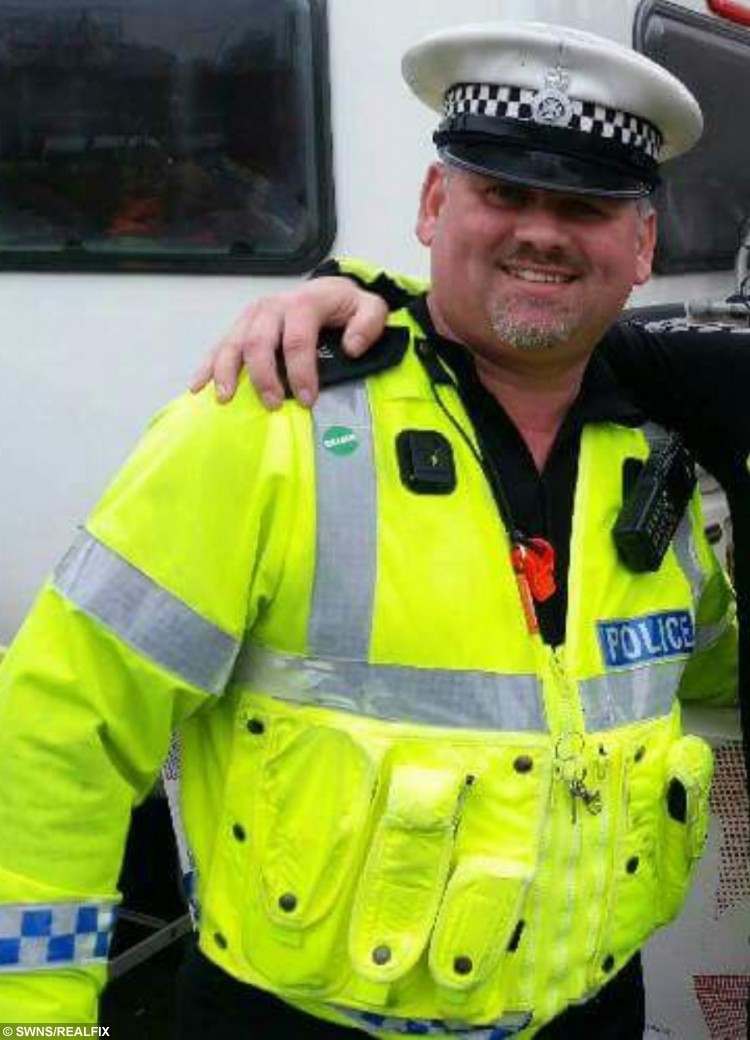 PC Steve 'Oscar' Hutton who caught a suspect - by barking like a dog