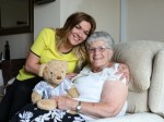 Dementia sufferer cries tears of joy when granddaughter gives her talking teddy bear with late husband's voice