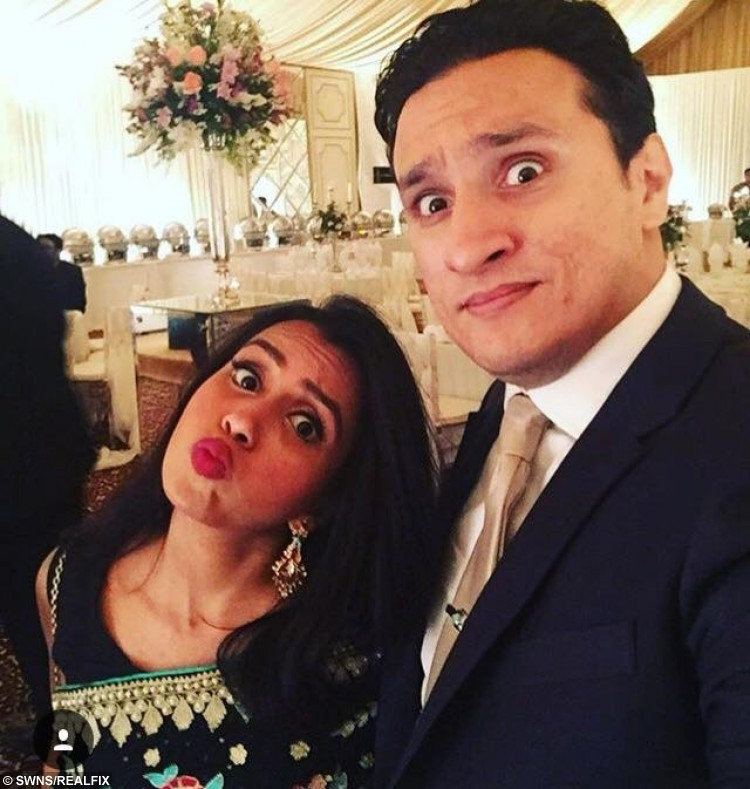 Huma and her husband Arsalaan