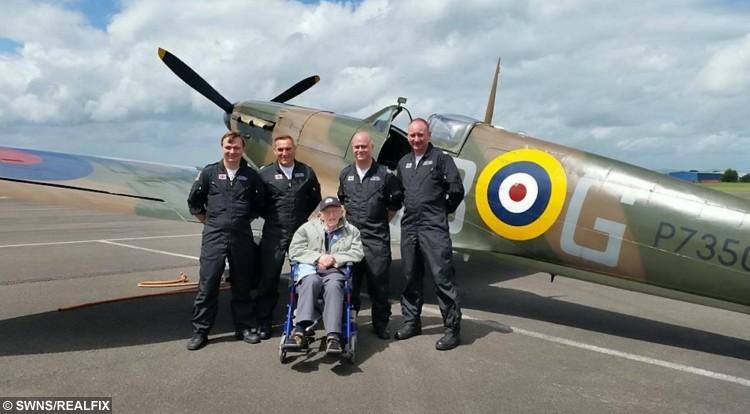 Ken Farlow gets a tour of the Battle of Britain Memorial Flight