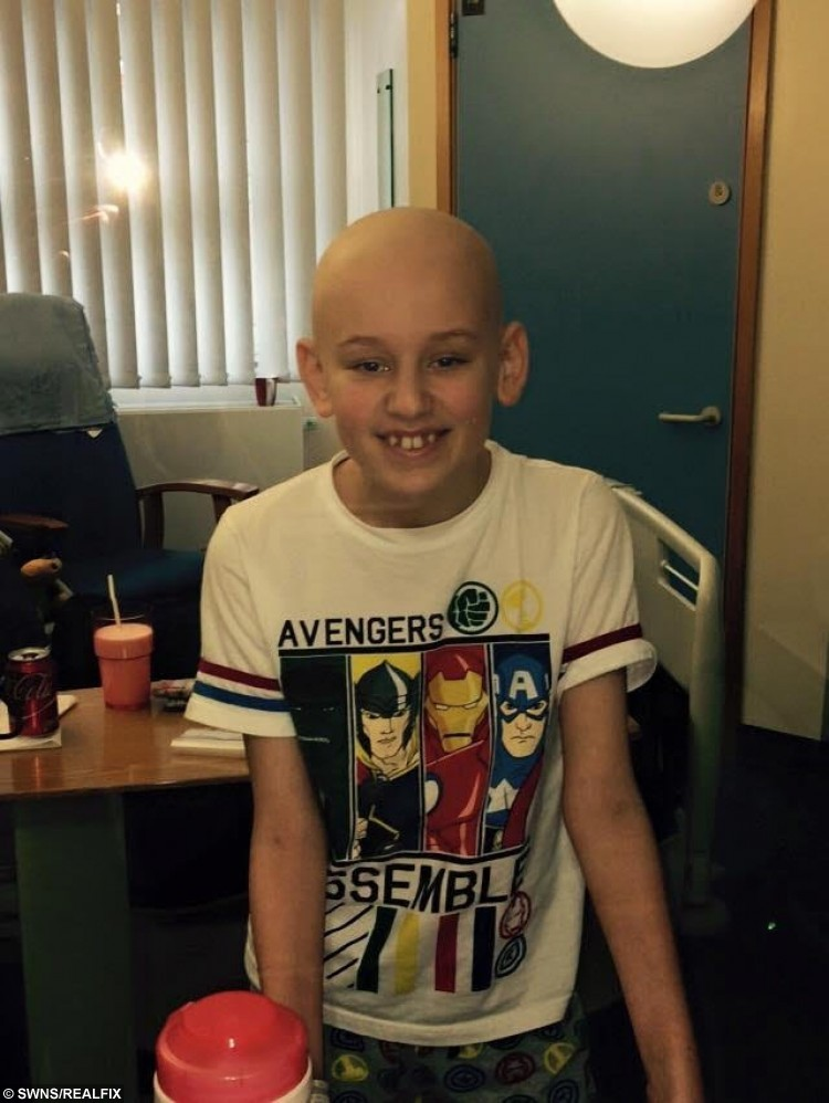 Collect photo of Daryl Allinson, 13, from Frome, Somerset, when he was in hospital in Bristol.